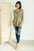 Distressed and Proud Sweater in Moss-[option4]-[option5]-[option6]-[option7]-[option8]-Womens-Clothing-Shop