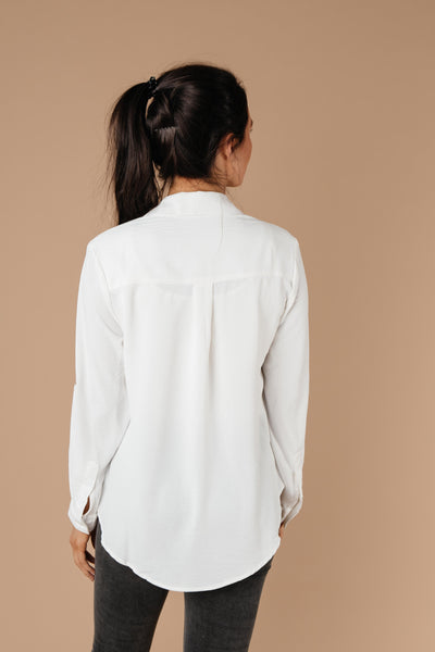 Every Girl's Go-To White Button Down-[option4]-[option5]-[option6]-[option7]-[option8]-Womens-Clothing-Shop