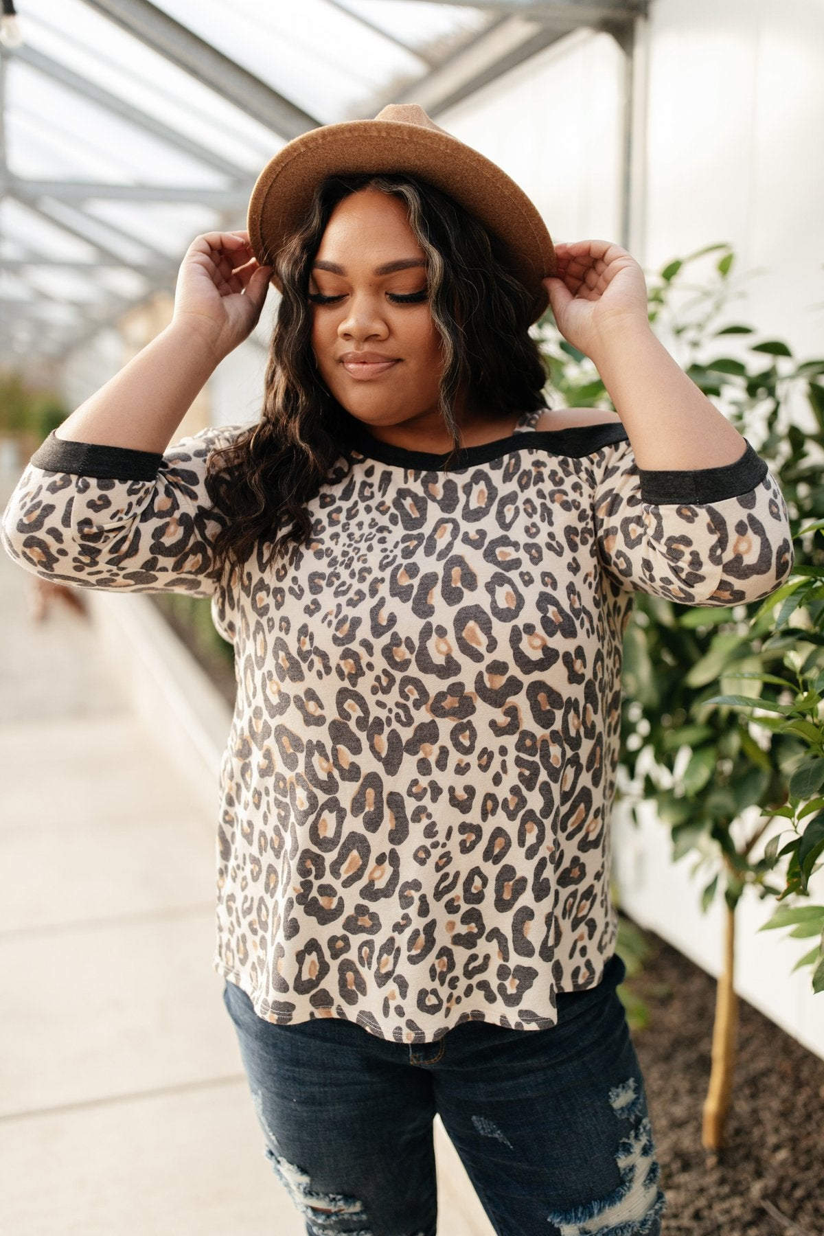 Grin & Bare It Animal Print Top in Ivory-[option4]-[option5]-[option6]-[option7]-[option8]-Womens-Clothing-Shop