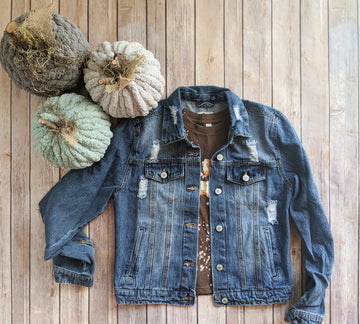 And Then Some Denim Jacket In Light Wash or Medium Wash