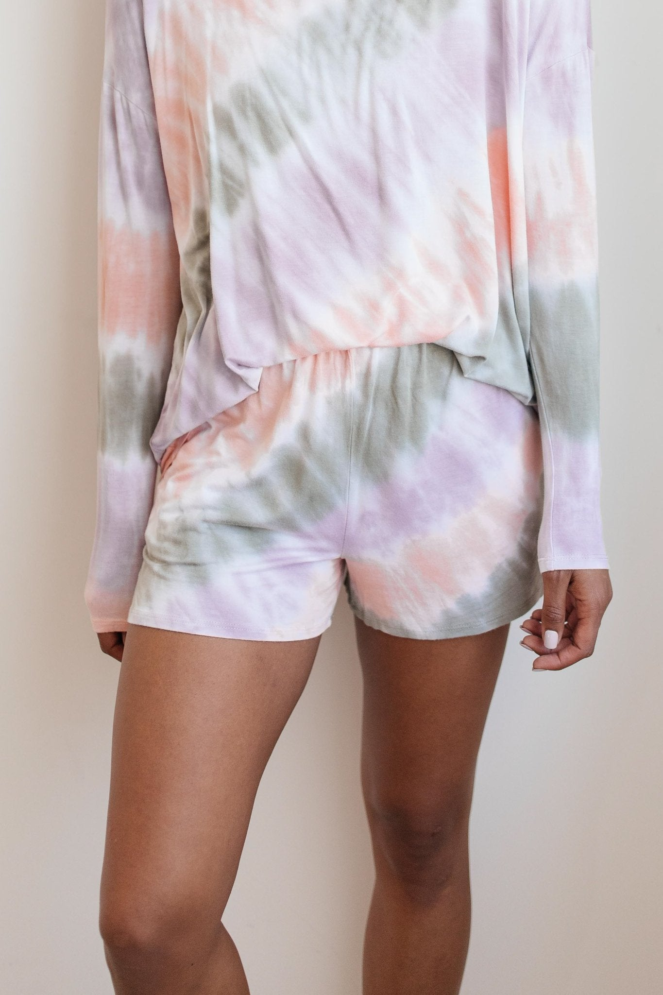 New Fangled Angled Tie Dye Shorts-[option4]-[option5]-[option6]-[option7]-[option8]-Womens-Clothing-Shop