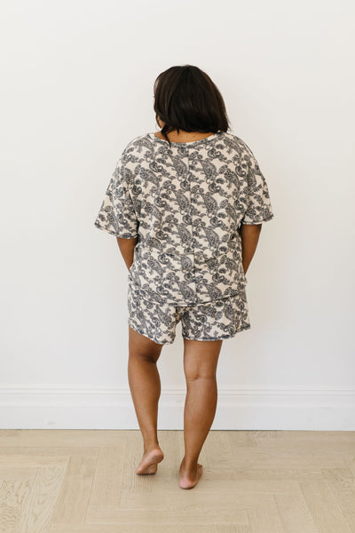 Paisley PJ Shorts-[option4]-[option5]-[option6]-[option7]-[option8]-Womens-Clothing-Shop