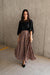 Pleated & Spotted Mauve Midi Skirt-[option4]-[option5]-[option6]-[option7]-[option8]-Womens-Clothing-Shop
