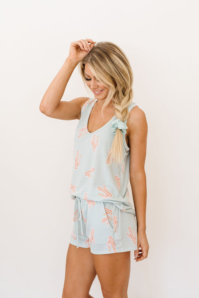 Prickly But Soft Tank In Mint-[option4]-[option5]-[option6]-[option7]-[option8]-Womens-Clothing-Shop
