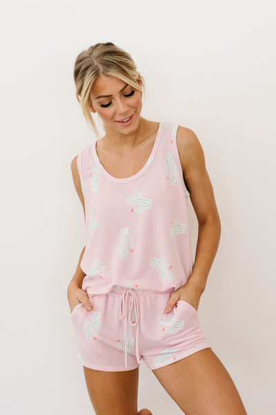Prickly But Soft Tank In Pink-[option4]-[option5]-[option6]-[option7]-[option8]-Womens-Clothing-Shop