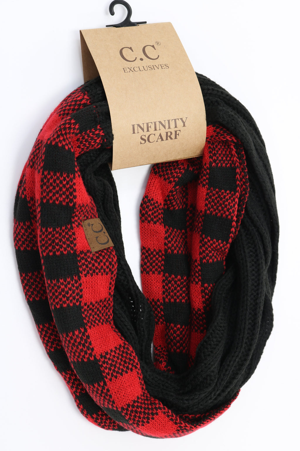 Buffalo Check Knit Scarf