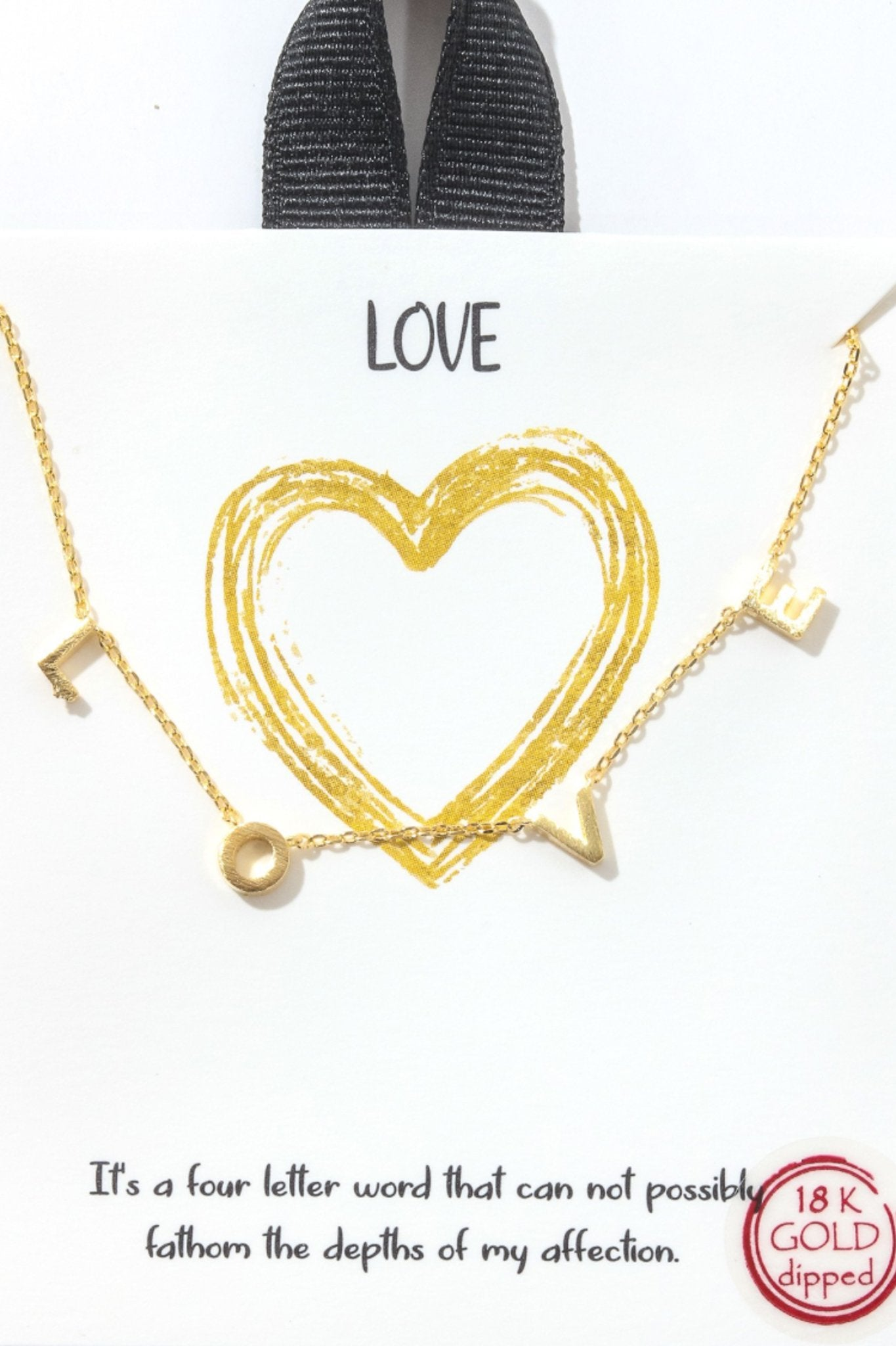 Love At The End Of The Day Necklace-[option4]-[option5]-[option6]-[option7]-[option8]-Womens-Clothing-Shop