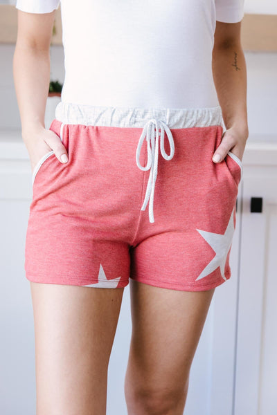 Star Player Shorts In Red-[option4]-[option5]-[option6]-[option7]-[option8]-Womens-Clothing-Shop