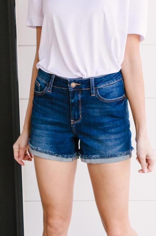 Stormy Blue Shorts-[option4]-[option5]-[option6]-[option7]-[option8]-Womens-Clothing-Shop