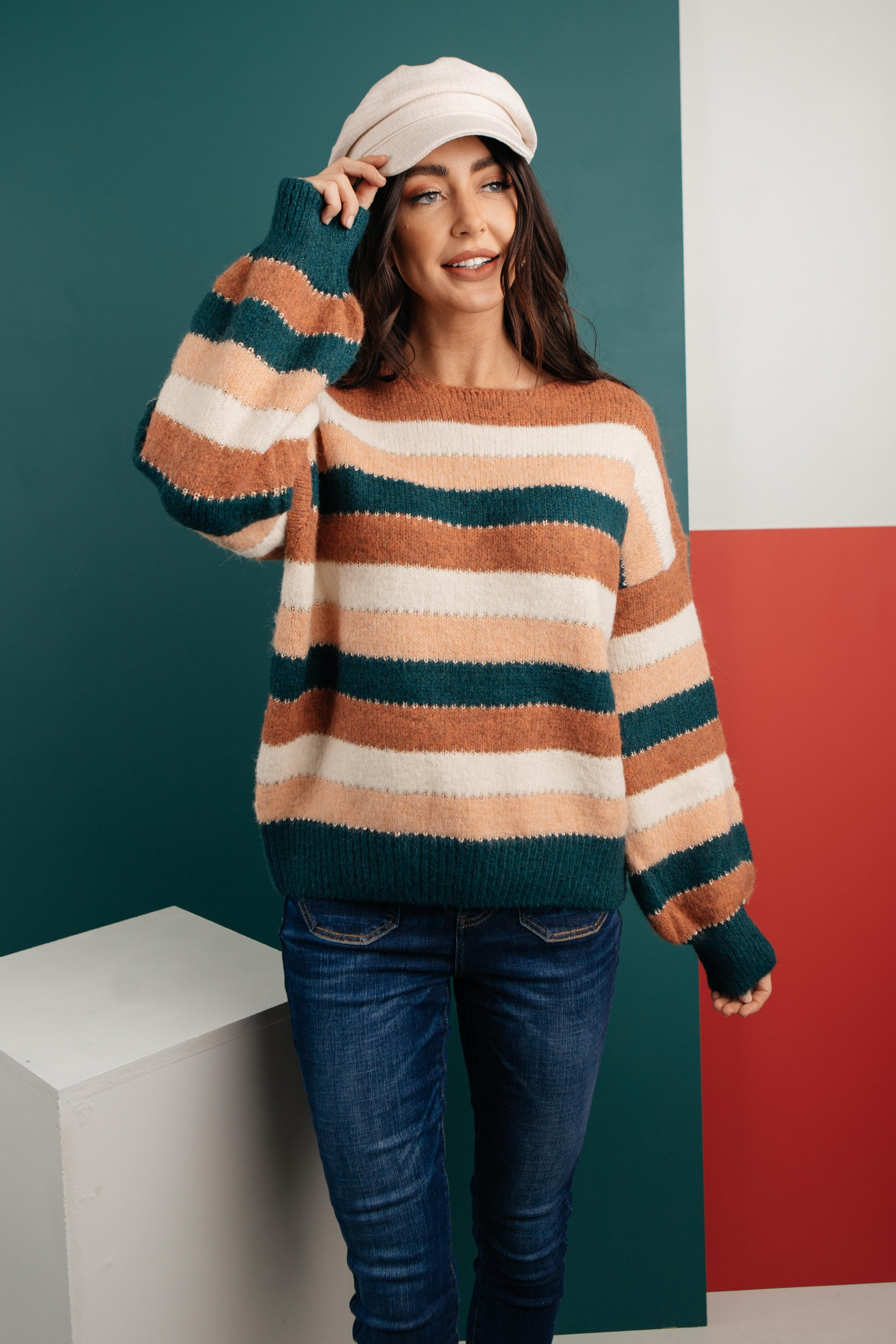 Striped Things And Winter Flings Sweater-[option4]-[option5]-[option6]-[option7]-[option8]-Womens-Clothing-Shop