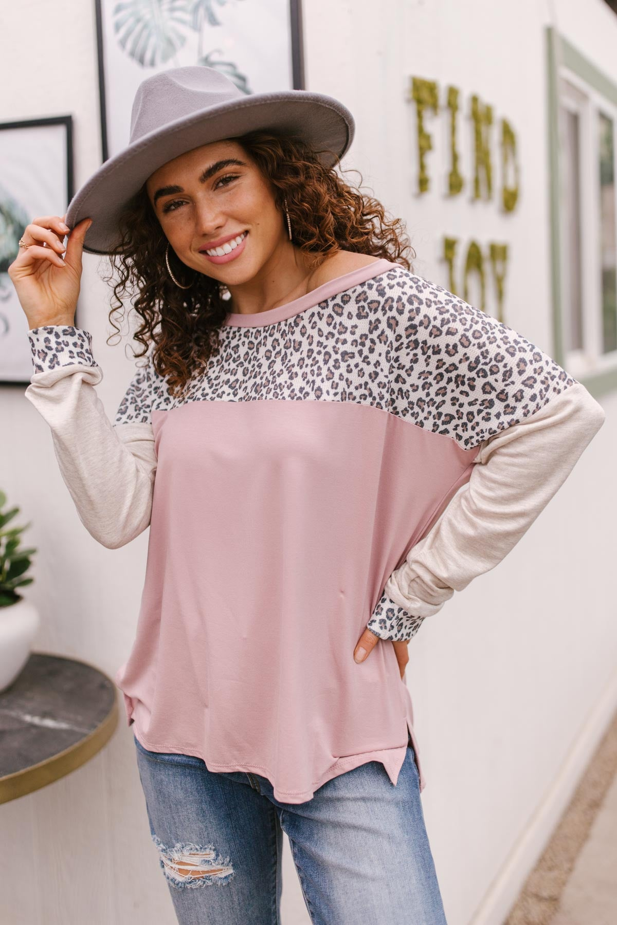 Maggie Raglan Top in Pink-[option4]-[option5]-[option6]-[option7]-[option8]-Womens-Clothing-Shop
