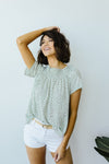 Tiny Twinkling Top In Sage-[option4]-[option5]-[option6]-[option7]-[option8]-Womens-Clothing-Shop