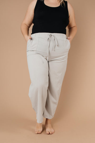 Transitions Cropped Pants In Gray-[option4]-[option5]-[option6]-[option7]-[option8]-Womens-Clothing-Shop