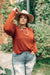 Very Pretty Top in Pumpkin Spice-[option4]-[option5]-[option6]-[option7]-[option8]-Womens-Clothing-Shop