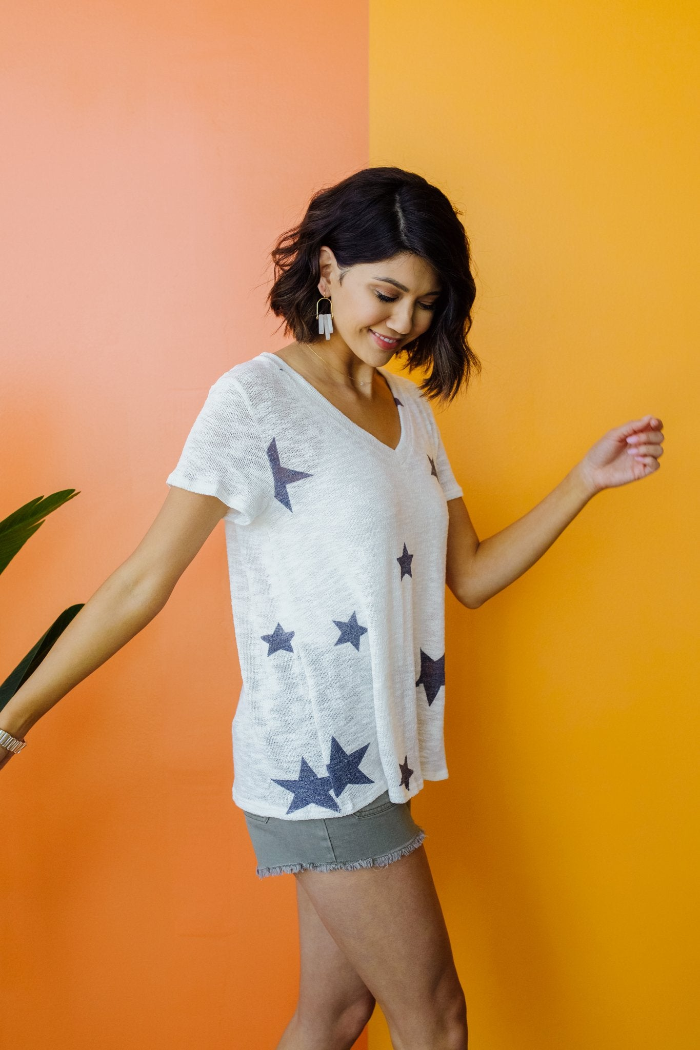 Wish Upon A Star Top In White-[option4]-[option5]-[option6]-[option7]-[option8]-Womens-Clothing-Shop