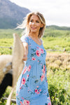 Be A Doll Floral Dress In Dusty Blue-[option4]-[option5]-[option6]-[option7]-[option8]-Womens-Clothing-Shop