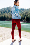 Beguiling Moto Jegging In Burgundy-[option4]-[option5]-[option6]-[option7]-[option8]-Womens-Clothing-Shop