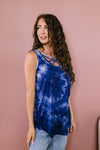 Blue Waters CrissCross Tie Dye Tank-[option4]-[option5]-[option6]-[option7]-[option8]-Womens-Clothing-Shop