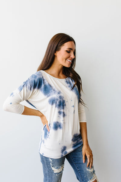 Blueberries & Cream Tie Dye Top-[option4]-[option5]-[option6]-[option7]-[option8]-Womens-Clothing-Shop