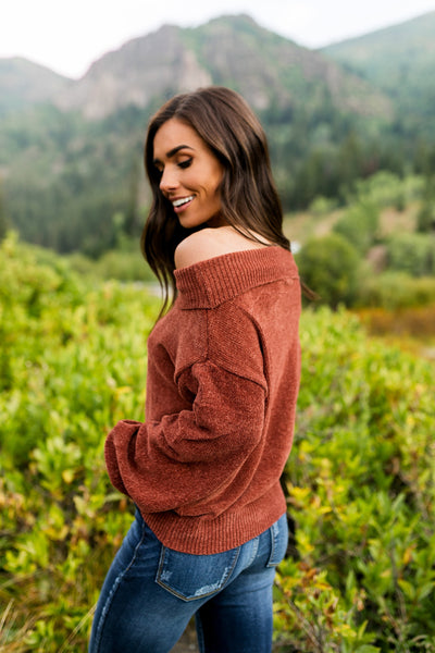 Bonfire Nights Sweater In Rust-[option4]-[option5]-[option6]-[option7]-[option8]-Womens-Clothing-Shop