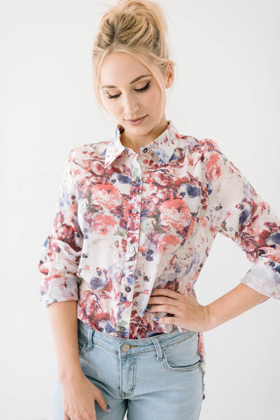 Bryant Blossoms Blouse-[option4]-[option5]-[option6]-[option7]-[option8]-Womens-Clothing-Shop