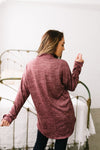 Buttoned Sleeve Top In Brick-[option4]-[option5]-[option6]-[option7]-[option8]-Womens-Clothing-Shop