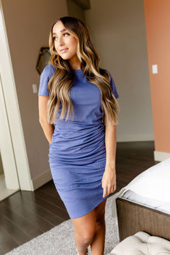Better Than Basics Dress In Blue