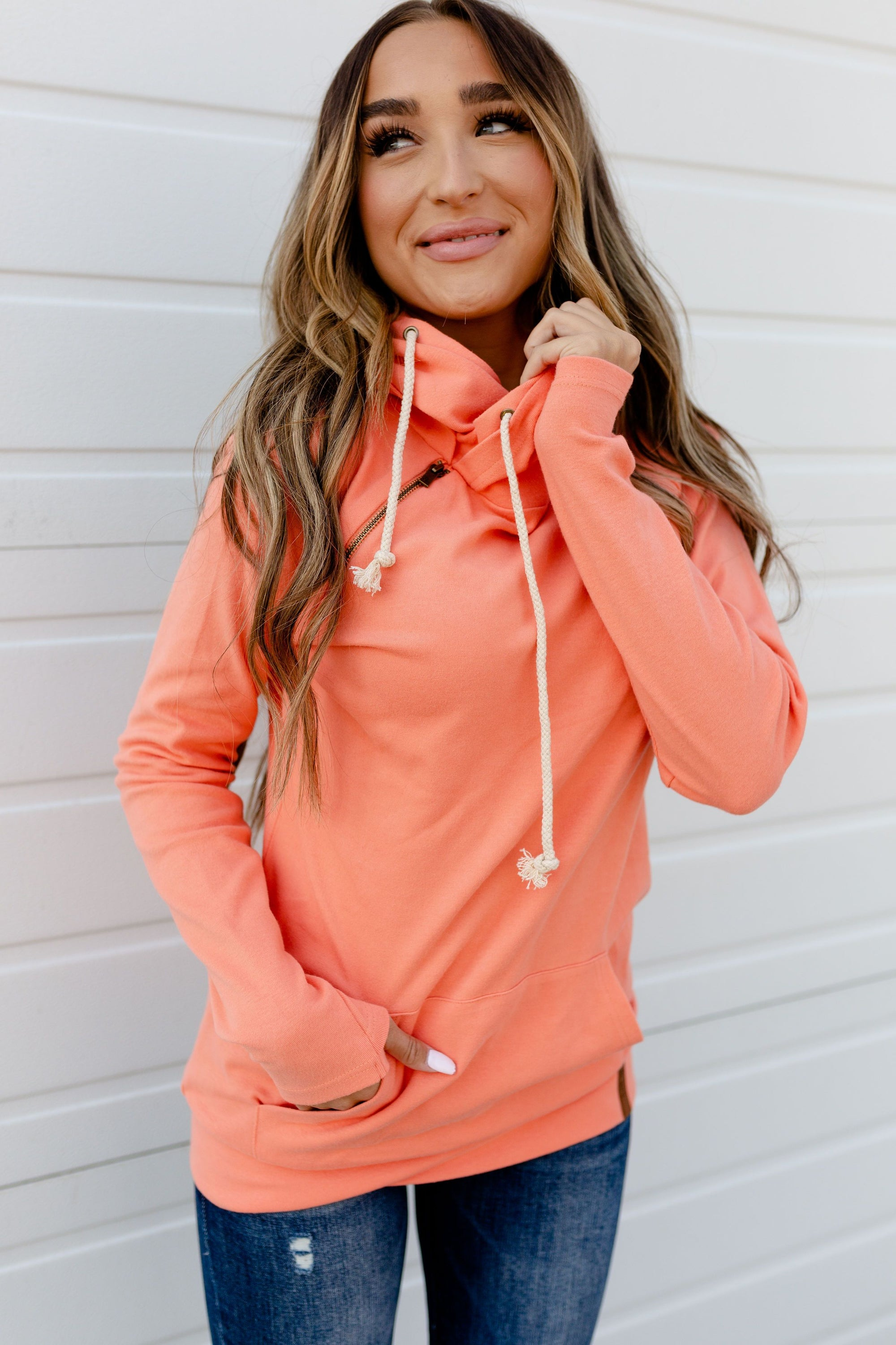 The Basic Doublehood Sweatshirt - Opal-[option4]-[option5]-[option6]-[option7]-[option8]-Womens-Clothing-Shop
