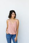 Charlize Surplice Tank In Blush-[option4]-[option5]-[option6]-[option7]-[option8]-Womens-Clothing-Shop