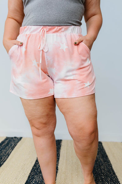 Cloudy With A Chance Of Stars Shorts In Blush-[option4]-[option5]-[option6]-[option7]-[option8]-Womens-Clothing-Shop