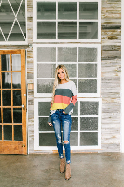 Color Block Party Striped Top-[option4]-[option5]-[option6]-[option7]-[option8]-Womens-Clothing-Shop