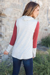 Comfort Zone Cowl Neck Top In Brick-[option4]-[option5]-[option6]-[option7]-[option8]-Womens-Clothing-Shop