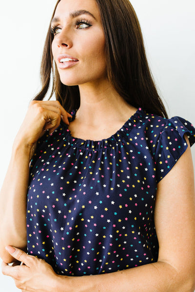 Confetti Is In The Stars Top-[option4]-[option5]-[option6]-[option7]-[option8]-Womens-Clothing-Shop