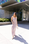 Coral Snakeskin Maxi Dress-[option4]-[option5]-[option6]-[option7]-[option8]-Womens-Clothing-Shop