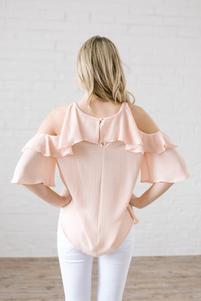 Date Night Top In Peach-[option4]-[option5]-[option6]-[option7]-[option8]-Womens-Clothing-Shop