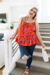 Ditzy Floral Tank In Coral *Final Sale*-[option4]-[option5]-[option6]-[option7]-[option8]-Womens-Clothing-Shop