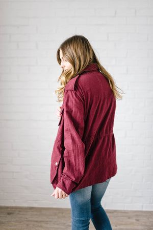Easy Breezy Jacket in Wine