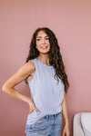 Elaine Elegant Tank In Gray-[option4]-[option5]-[option6]-[option7]-[option8]-Womens-Clothing-Shop