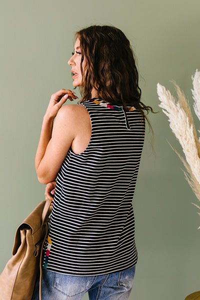 Ember Embroidered Striped Top-[option4]-[option5]-[option6]-[option7]-[option8]-Womens-Clothing-Shop