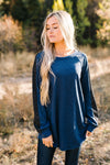 Every Girl Deserves A Little Sparkle Top In Navy-[option4]-[option5]-[option6]-[option7]-[option8]-Womens-Clothing-Shop