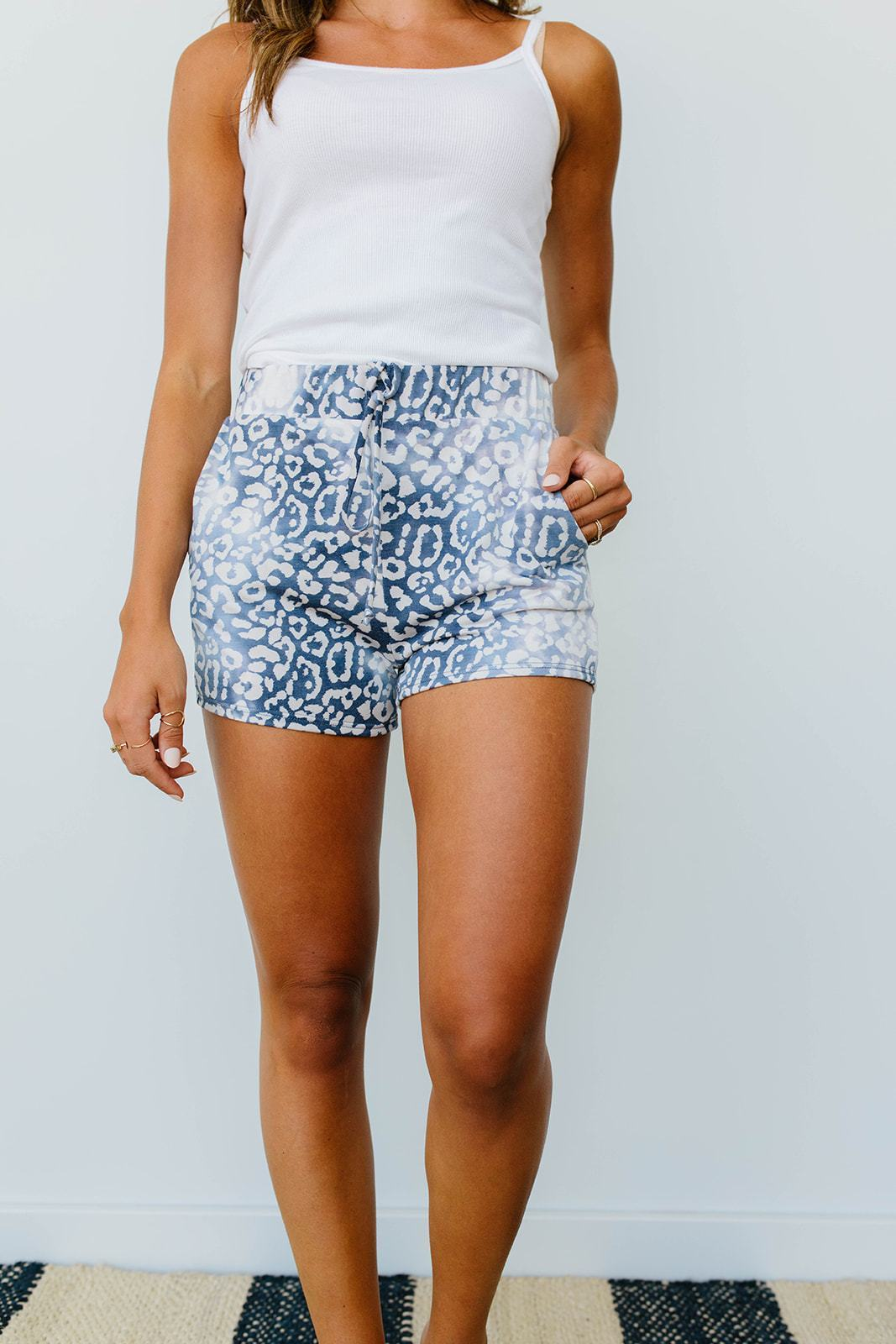 Faded Navy Shorts-[option4]-[option5]-[option6]-[option7]-[option8]-Womens-Clothing-Shop