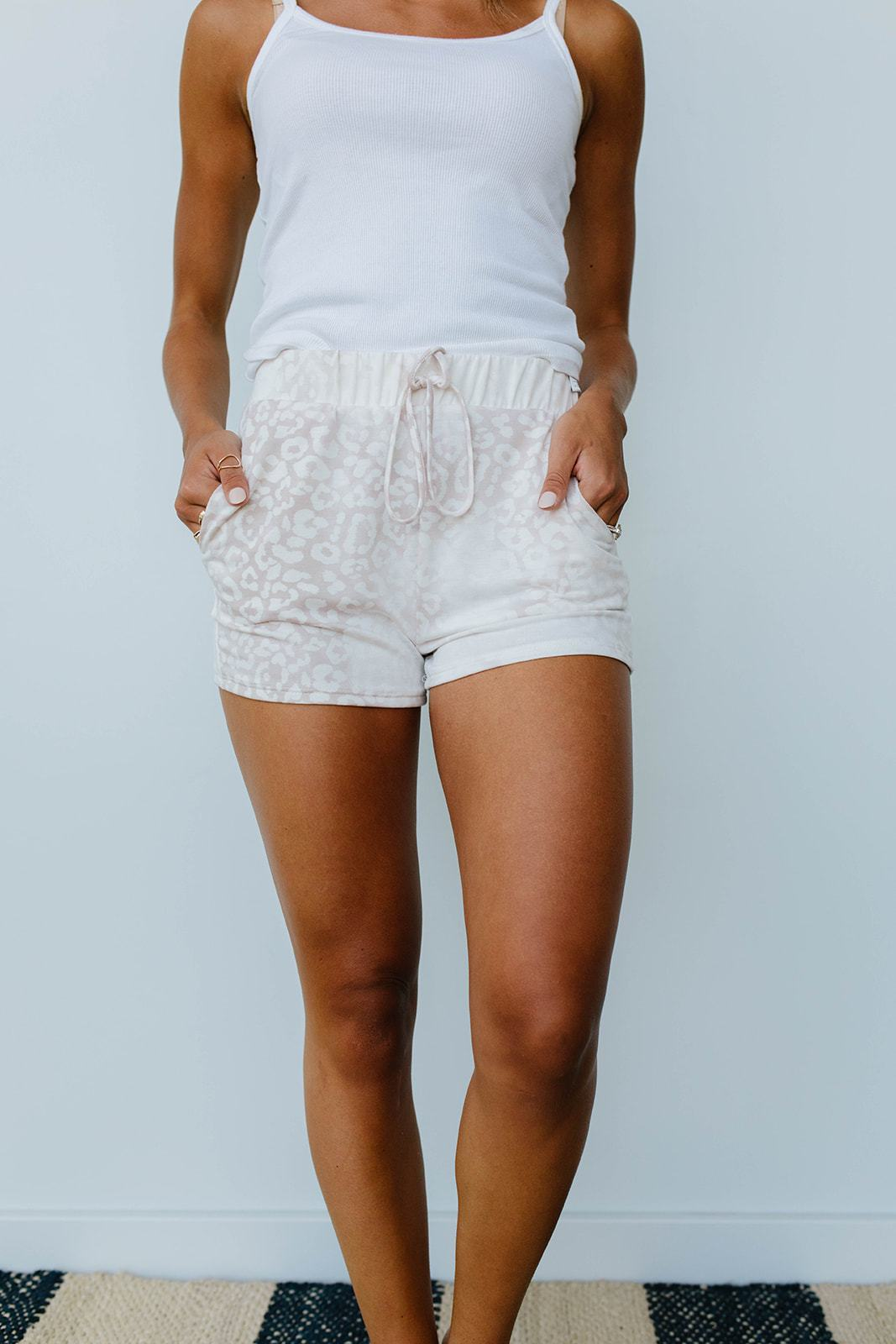 Faded Taupe Shorts-[option4]-[option5]-[option6]-[option7]-[option8]-Womens-Clothing-Shop