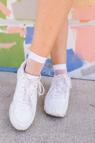 Fishnet Bootie Socks-[option4]-[option5]-[option6]-[option7]-[option8]-Womens-Clothing-Shop
