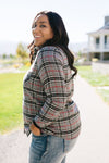 Fleece-Lined Flannel Button-Down In Gray-[option4]-[option5]-[option6]-[option7]-[option8]-Womens-Clothing-Shop