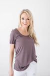 French Lavendar Scoop Neck Tee-[option4]-[option5]-[option6]-[option7]-[option8]-Womens-Clothing-Shop