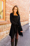Fringe Benefits Cardigan In Black-[option4]-[option5]-[option6]-[option7]-[option8]-Womens-Clothing-Shop