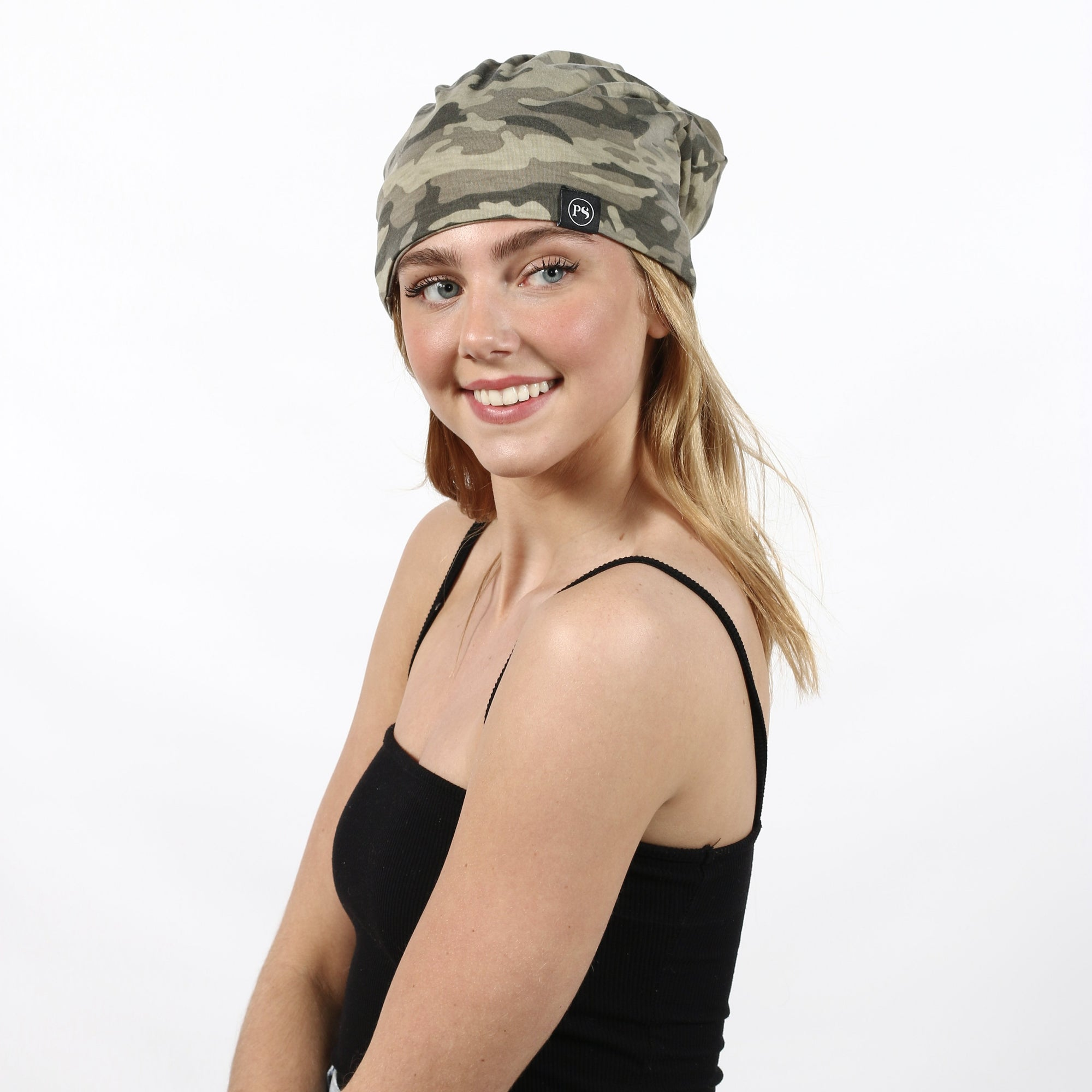 Faded Camo Peek-a-Boo Beanie-[option4]-[option5]-[option6]-[option7]-[option8]-Womens-Clothing-Shop
