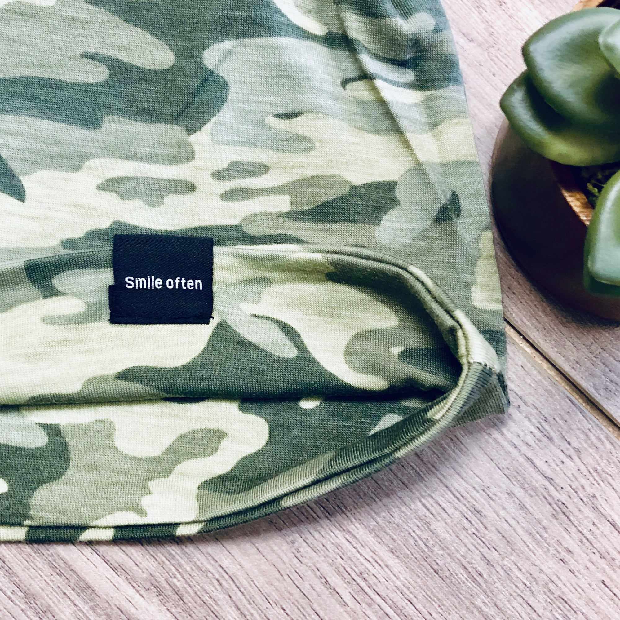 Faded Camo Peek-a-Boo Beanie