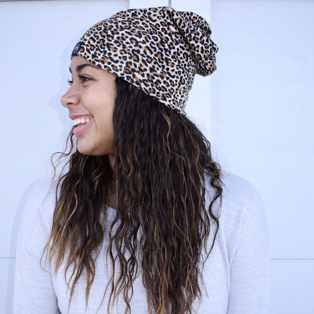 Leopard Peek-a-Boo Beanie-Leopard-[option4]-[option5]-[option6]-[option7]-[option8]-Womens-Clothing-Shop