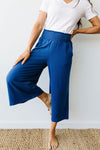 Go Get 'Em Gaucho Pants In Navy-[option4]-[option5]-[option6]-[option7]-[option8]-Womens-Clothing-Shop
